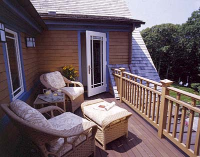 Deck aligned with the roof of the rest of the house