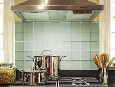 glass-tile backsplash