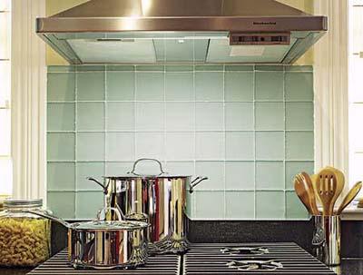 glass-tile backsplash