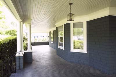 wide porch