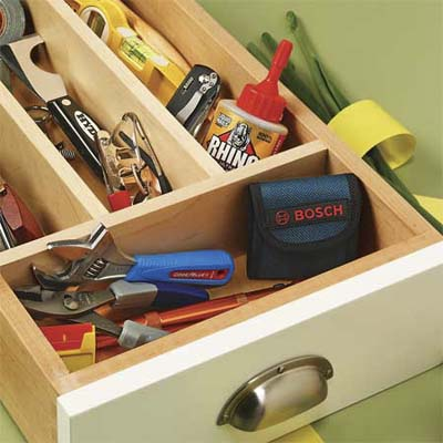 showcase of four essential tools for your kitchen drawers