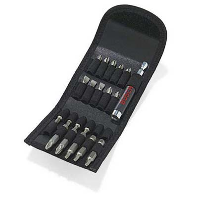compact set of drill bits in pouch from bosch tools