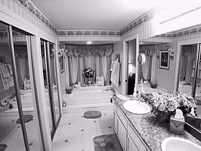 His-and-her bathroom before redesign