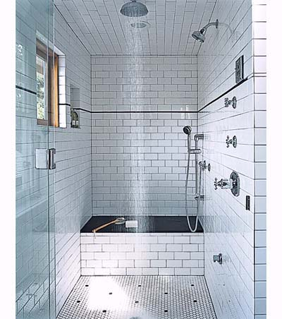 Shower in shared bathroom