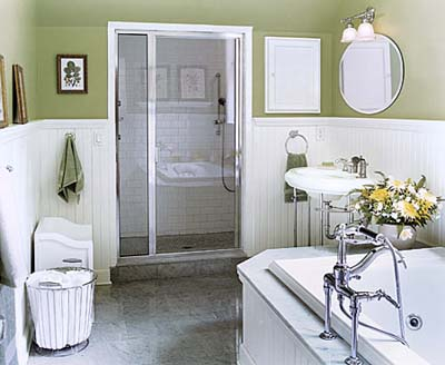 Shower and tub in shared bathroom
