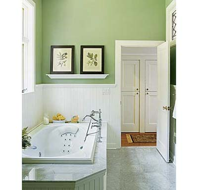 Jet tub in shared bathroom