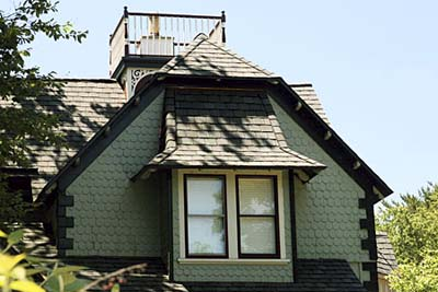 Dark green exterior paint