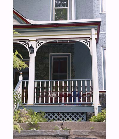 Exterior paint on a Queen Anne