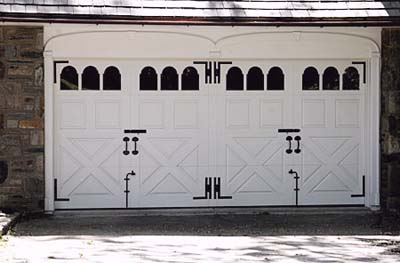 garage doors made to look like carriage-house doors