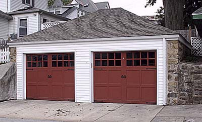 garage doors made to look like a carriage house