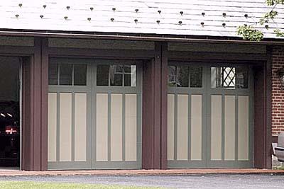 Tudor-style garage doors