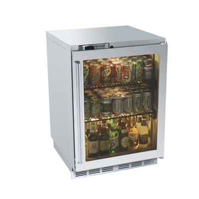see-through doors in outdoor kitchen appliances