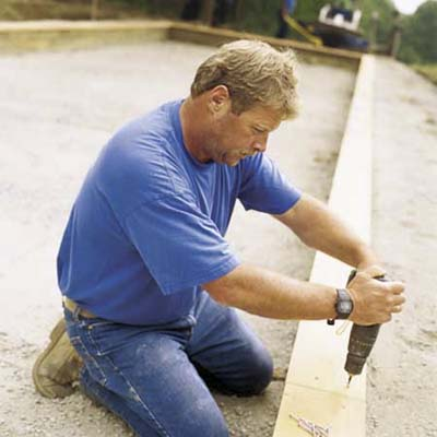 Roger Cook builds a bocce court