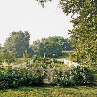 herb and vegetable garden at Ravenroyd modeled on Longwood Gardens