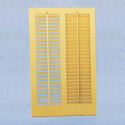 yellow louvered shutters