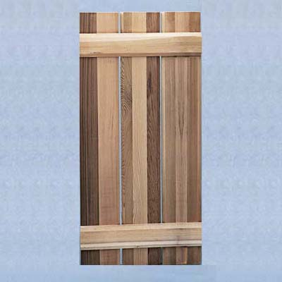 wooden board-and-batten shutters
