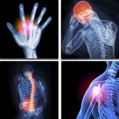 injuries to body parts resulting from work around the house