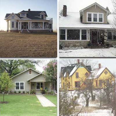 four houses after remodel