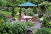 beautiful garden with patio