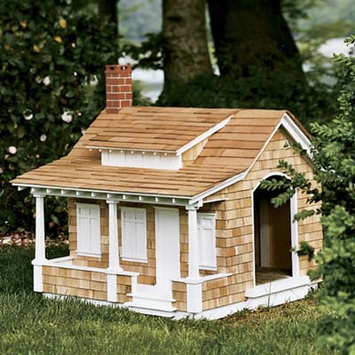 craftsman style doghouse