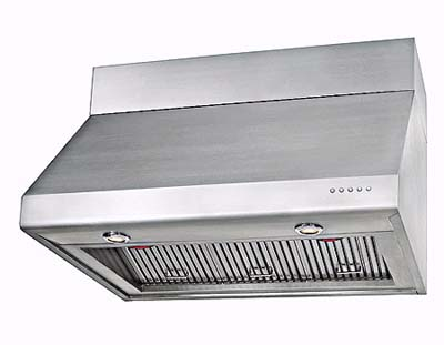 DeLonghi's 24-inch hood with halogen lighting