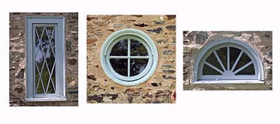 lattice, porthole, and half-round windows