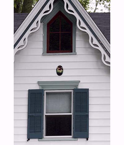 pointed-arch gable window