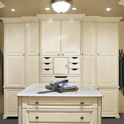 armoire and wardrobes in closet remodel