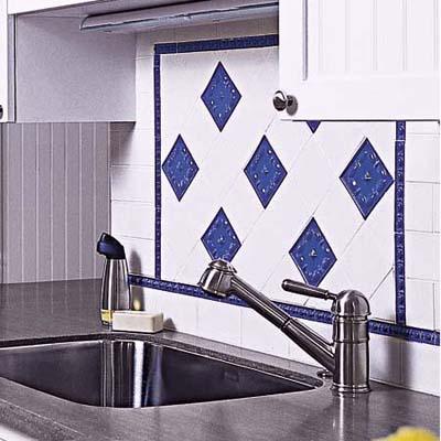 blue kitchen tiles