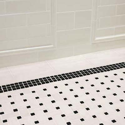 Black-and-White Tile Floor
