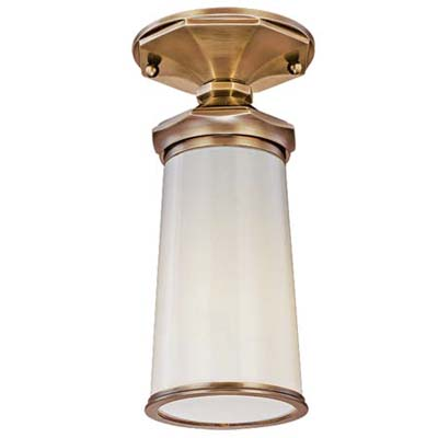 brass and opal glass shade exterior light