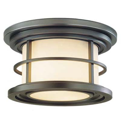 contemporary looking flush-mount exterior light
