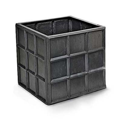 molded-fiberglass replica of an lead box antique planter