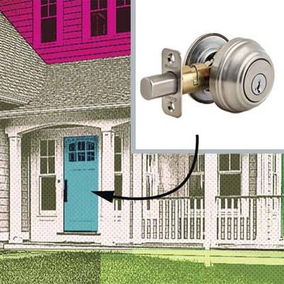 thirty-four percent of break-ins happen through the front door
