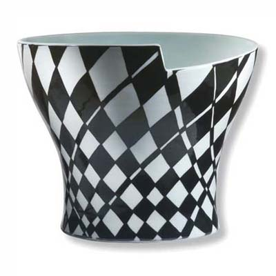 stay at home vacation checkerboard vase