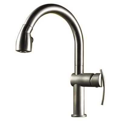 minimalist faucet with pull-out hose