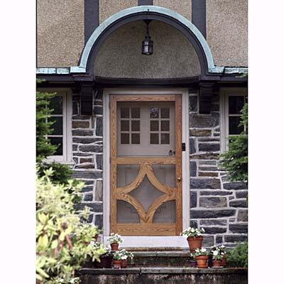 a Tudor front door