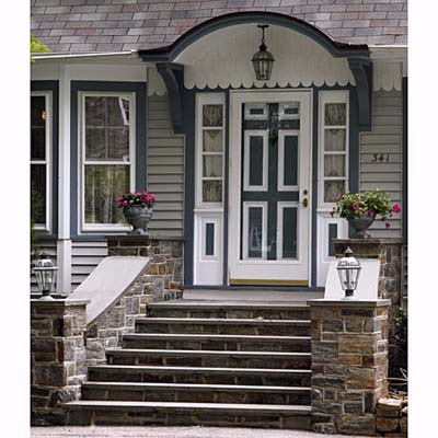 Gothic & Colonial Revival entryway
