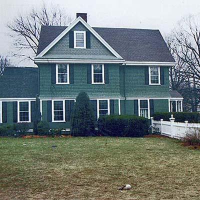 side lawn before the additions were made