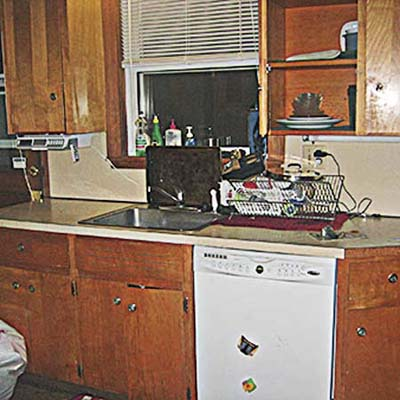 The couple didn't change the basement kitchen's layout significantly