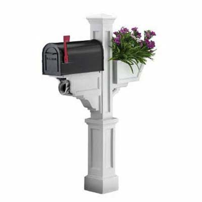 dual-purpose, maintenance-free mailbox and planter combination from mayne