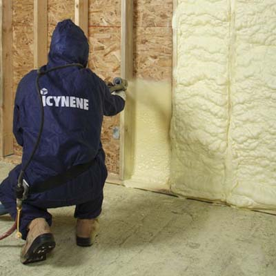 polyurethane spray foam from Icynene