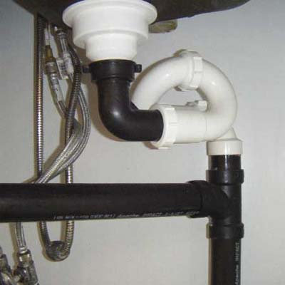 another dangerously wrong way to install a sink trap