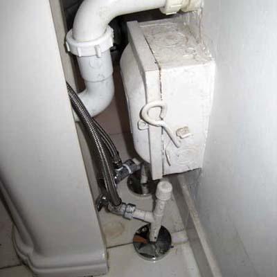 shut-off box access blocked by plumbing and visa-versa