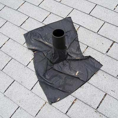 the same house for sale had a home-made vent boot to stop roof leaks and seventeen rotted floor joists