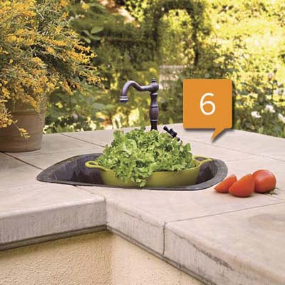 outdoor kitchen sink area