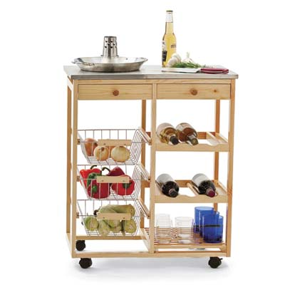 Polaris Kitchen Cart for storage and prep in an outdoor kitchen