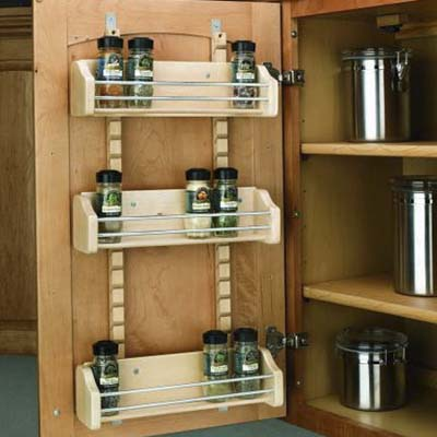 smart kitchen and linen storage upgrades to keep your life organized: doormount spice rack