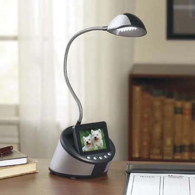 digital photo frame desk lamp