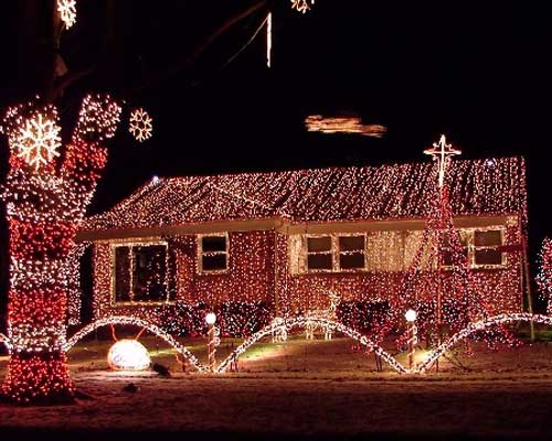 over the top christmas lights and decorations